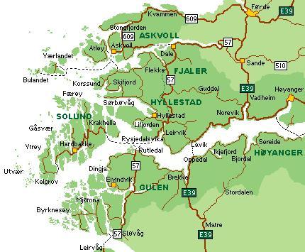 kart fjaler HAFS regionråd   Askvoll kommune kart fjaler